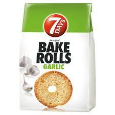 7Days Bake Rolls 80g fokhagymás