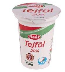 Reál tejföl 20% 330g Sole