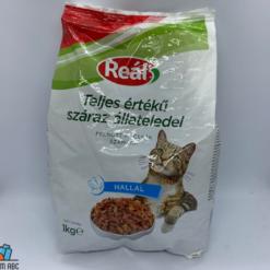 Reál macskaeledel 1kg halas ízesítés