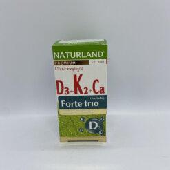 Naturland D3+k2+Ca forte trio 30db